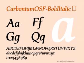 CarboniumOSF-BoldItalic
