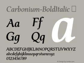 Carbonium-BoldItalic