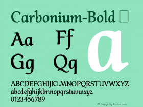 Carbonium-Bold