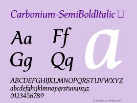 Carbonium-SemiBoldItalic