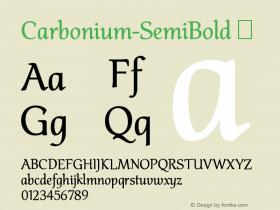 Carbonium-SemiBold