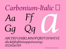 Carbonium-Italic