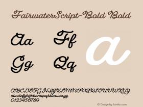 FairwaterScript-Bold