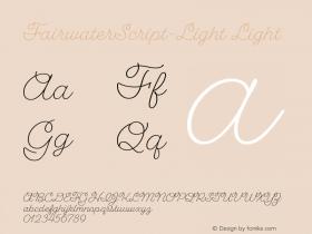 FairwaterScript-Light
