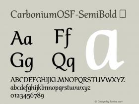 CarboniumOSF-SemiBold