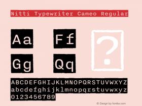 Nitti Typewriter Cameo