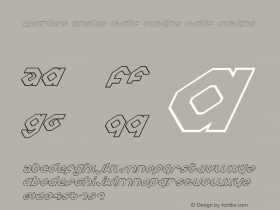 Charlie's Angles Italic Outline