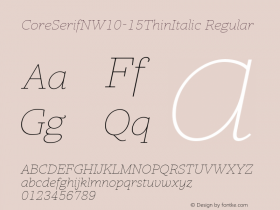 CoreSerifN-15ThinItalic