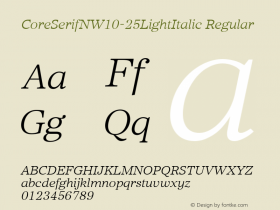 CoreSerifN-25LightItalic