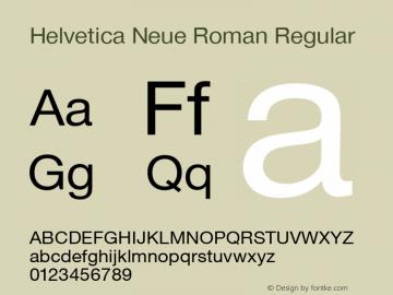 Helvetica Neue Roman