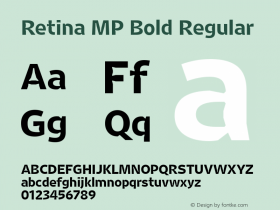 Retina MP Bold