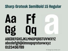 Sharp Grotesk SemiBold 15