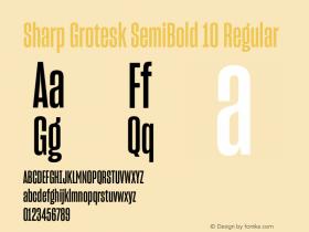 Sharp Grotesk SemiBold 10