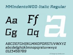 MMIndento-Italic