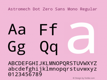 Astromech Dot Zero Sans Mono