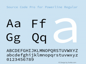 Source Code Pro for Powerline