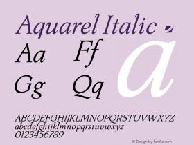 Aquarel Italic