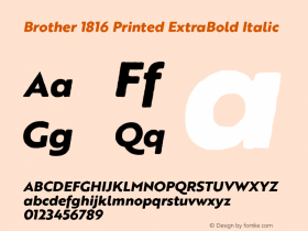 Brother 1816 Printed