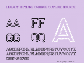 Legacy Outline Grunge