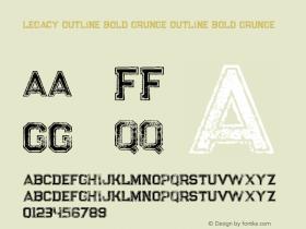 Legacy Outline Bold Grunge