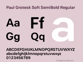 Paul Grotesk Soft SemiBold