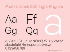 Paul Grotesk Soft Light