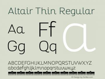 Altair Thin