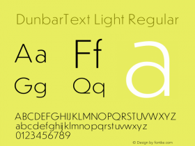 DunbarText Light