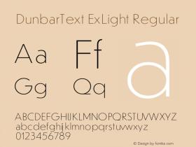DunbarText ExLight