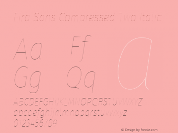Fira Sans Compressed Two