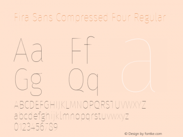 Fira Sans Compressed Four