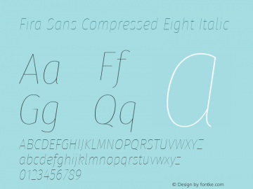 Fira Sans Compressed Eight