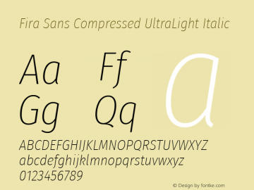 Fira Sans Compressed UltraLight
