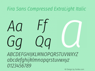 Fira Sans Compressed ExtraLight