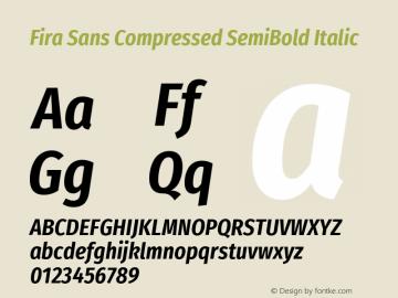 Fira Sans Compressed SemiBold