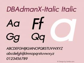 DBAdmanX-Italic