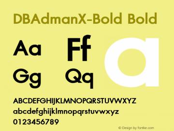DBAdmanX-Bold
