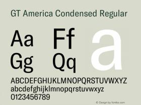GT America Condensed
