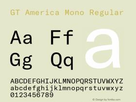 GT America Mono