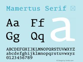Mamertus Serif