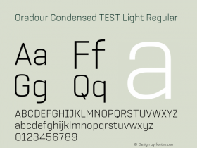 Oradour Condensed TEST Light