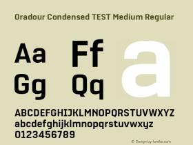 Oradour Condensed TEST Medium