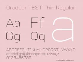 Oradour TEST Thin
