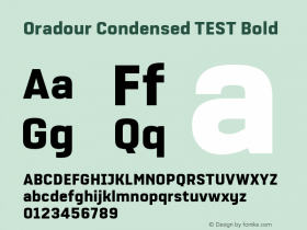 Oradour Condensed TEST
