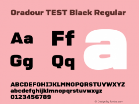Oradour TEST Black