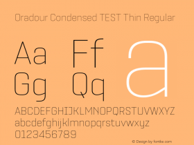 Oradour Condensed TEST Thin