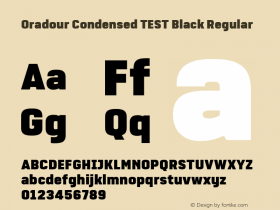 Oradour Condensed TEST Black