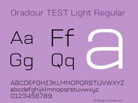 Oradour TEST Light