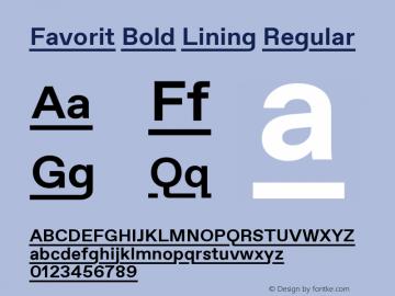 Favorit Bold Lining
