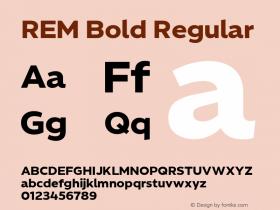 REM Bold